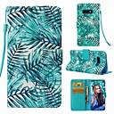 voordelige Galaxy S7 Hoesjes / covers-hoesje Voor Samsung Galaxy S9 / S9 Plus / S8 Plus Portemonnee / Kaarthouder / Flip Volledig hoesje Planten Hard PU-nahka