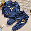 رخيصةأون ساعات ذكية-مجموعة ملابس كم طويل خملة الجاكوارد أساسي للصبيان طفل / طفل صغير
