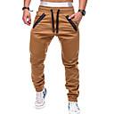 povoljno Muške hlače-Muškarci Aktivan / Osnovni Chinos Hlače - Jednobojni Sive boje Vojska Green Žutomrk XL XXL XXXL