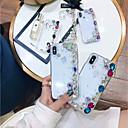 رخيصةأون Huawei أغطية / كفرات-غطاء من أجل Apple iPhone XS / iPhone XR / iPhone XS Max حجر كريم غطاء خلفي حجر الراين قاسي أكريليك