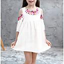 povoljno Modne ogrlice-Djeca Djevojčice Cvjetni print Haljina Obala
