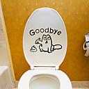 رخيصةأون ملصقات ديكور-لواصق المرحاض - لواصق حائط الطائرة حيوانات غرفة الجلوس / غرفة النوم / دورة المياه