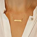 povoljno Naušnice-Žene Ogrlice s privjeskom Geometrijski Radost Jednostavan pomodan Moda Elegantno Krom Zlato 42 cm Ogrlice Jewelry 1pc Za Dnevno Škola Ulica Izlasci Rad