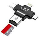 رخيصةأون أغطية أيباد-LITBest MicroSD / MicroSDHC / MicroSDXC / TF USB 2.0 / USB مصغر / البرق قارئ البطاقة الروبوت الهاتف الخليوي / كومبيوتر / للأيفون
