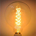 ieftine Becuri Incandescente-1 buc 40 W E26 / E27 G125 Galben Organismul transparent Incandescent Vintage Edison bec 220-240 V
