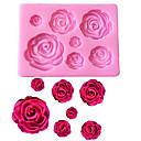 economico Home Fragrances-stampo in silicone fondente a forma di fiore di rosa stampo artigianale al cioccolato