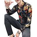 povoljno Muške košulje-Majica Muškarci - Vintage / Ulični šik Izlasci / Klub Geometrijski oblici Klasični ovratnik Slim Obala / Dugih rukava
