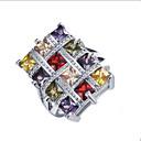povoljno Posebni pribor-Žene Prsten 1pc Duga Umjetno drago kamenje Legura Dar Dnevno Jewelry Lijep