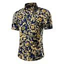 povoljno Muške košulje-Majica Muškarci Pamuk Na točkice / Galaksija / Color block Print Navy Plava