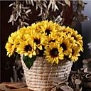 رخيصةأون أزهار اصطناعية-زهور اصطناعية 12 فرع كلاسيكي أوروبي أسلوب بسيط عباد الشمس أزهار الطاولة