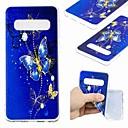 رخيصةأون أقراط-غطاء من أجل Samsung Galaxy S9 / S9 Plus / S8 Plus شفاف / نموذج غطاء خلفي فراشة ناعم TPU