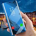 voordelige Galaxy J7(2017) Hoesjes / covers-hoesje Voor Samsung Galaxy J8 (2018) / J7 Prime / J7 Max met standaard / Beplating / Spiegel Volledig hoesje Effen Hard PU-nahka