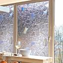 رخيصةأون الستائر-فيلم نافذة وملصقات زخرفة معاصر / 3D هندسي PVC ملصق النافذة / ضد الانعكاس