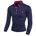 povoljno Muške jakne-Polo Muškarci Pamuk Na točkice Kragna košulje Slim, Print Obala / Dugih rukava
