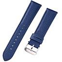 povoljno Remeni za sat-prava koža / Koža / Teleća koža Pogledajte Band Remen za Plava 17cm / 6,69 inča / 18 cm / 7 inča / 19cm / 7,48 inča 1cm / 0.39 Palac / 1.2cm / 0.47 Palac / 1.3cm / 0.5 Palac