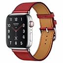 povoljno Muški satovi-Pogledajte Band za Apple Watch Series 5/4/3/2/1 Apple Klasična kopča Prava koža Traka za ruku