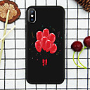olcso Ünnepi Dekorációs Fény-Case Kompatibilitás Apple iPhone XS / iPhone XR / iPhone XS Max Minta Fekete tok Szív Puha TPU