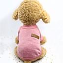ieftine Imbracaminte & Accesorii Căței-Câini Γιλέκο Iarnă Îmbrăcăminte Câini Roz Gri Kaki Costume Material cu burete Mată Keep Warm Împletite / Cordon S M L