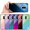 abordables Coques / Etuis pour Galaxy Série A-Coque Pour Samsung Galaxy A6 (2018) / A8 2018 Antichoc / Etanche à la Poussière Coque Dégradé de Couleur Dur TPU / Verre Trempé