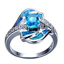 ieftine Inele-Pentru femei Inel de logodna 1 buc Albastru Deschis Ștras Aliaj Cadou Zilnic Bijuterii