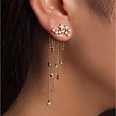 ieftine Cercei-Pentru femei Cercei Față & Spate Declarație Diamante Artificiale cercei Bijuterii Auriu / Argintiu Pentru Nuntă Petrecere Carnaval Anul Nou Măr 1 Pair