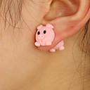 ieftine Cabluri Ethernet-Pentru femei Piercing Ureche Cercei Cercei Față & Spate Porc Animal Cute Stil Pentru Copii cercei Bijuterii Roz Pentru Dată 1 Pair