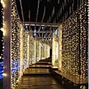 お買い得  窓回り-3メートル* 3メートル300 ledsカーテンライトディップled whitewarmホワイトパーティー装飾的なリンク可能110-120 v 1ピース