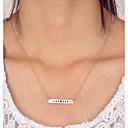 povoljno Naušnice-Žene Ogrlice s privjeskom Geometrijski Graviranog Mjesečeva faza Jednostavan Klasik pomodan Moda Krom Zlato Pink 42 cm Ogrlice Jewelry 1pc Za Dar Dnevno Ulica Izlasci Rad