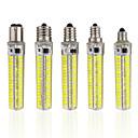 رخيصةأون أضواء LED ذرة-1PC 5 W أضواء LED ذرة 1000-1200 lm E14 E12 E17 T 152 الخرز LED SMD 5730 تخفيت أبيض دافئ أبيض كول 220-240 V 110-130 V
