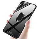 رخيصةأون أغطية أيفون-غطاء من أجل Apple iPhone XS / iPhone XR / iPhone XS Max ضد الصدمات / حامل الخاتم غطاء خلفي لون سادة قاسي TPU / زجاج مقوى