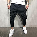 povoljno Chinos-Muškarci pretjeran Dnevno Sportske hlače Hlače - Jednobojni Crn M L XL