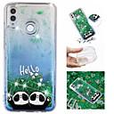 voordelige iPhone-hoesjes-hoesje Voor Huawei Huawei Honor 10 / Huawei Honor 8X / Mate 10 lite Stromende vloeistof / Patroon / Glitterglans Achterkant Glitterglans / Panda Zacht TPU