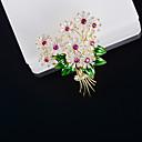 ieftine Colier la Modă-Pentru femei Zirconiu Cubic Broșe Stilat Broșă Bijuterii Auriu Pentru Nuntă Logodnă Cadou Stradă Birou și carieră