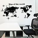 رخيصةأون ديكورات خشب-لواصق حائط مزخرفة - خريطة ملصقات الحائط مناظر طبيعية غرفة الجلوس / غرفة النوم / مطبخ