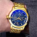 voordelige Merk Horloge-Heren mechanische horloges Automatisch opwindmechanisme Goud 30 m Waterbestendig Vrijetijdshorloge Analoog Luxe Modieus zin in hebben - Wit Zwart Blauw