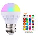 povoljno LED Smart žarulje-1pc 3 W Smart LED žarulje 200-250 lm E26 / E27 1 LED zrnca SMD 5050 Smart Zatamnjen Na daljinsko upravljanje RGBW 85-265 V / RoHs