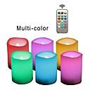 povoljno LED svjetla u traci-6kom LED noćno svjetlo / Plamene svijeće RGB + Topla Gumb Baterija pogonjena Sigurnost / Jednostavno za nošenje / Lampa atmosfere