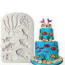 رخيصةأون أدوات الفرن-3d سيليكون العفن البحر الحيوان فندان كعكة أدوات تزيين نجم البحر قذيفة الشوكولاته gumpaste العفن