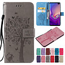 cheap Bakeware-Case For Samsung Galaxy S9 / S9 Plus / S8 Plus Wallet / Card Holder / with Stand Full Body Cases Cat / Tree Hard PU Leather