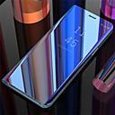 رخيصةأون كاميرات المراقبة IP-غطاء من أجل Samsung Galaxy Galaxy S10 / Galaxy S10 Plus / Galaxy S10 E مرآة / قلب / النوم / الإيقاظ التلقائي غطاء خلفي لون سادة قاسي جلد PU
