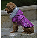 رخيصةأون ملابس وإكسسوارات الكلاب-كلاب المعاطف الشتاء ملابس الكلاب أرجواني فوشيا أخضر كوستيوم فصيل كورجي كلب صيد كلب البلدغ تيريليني لون سادة كاجوال / يومي دافئ / تدفيئ S M L XL XXL