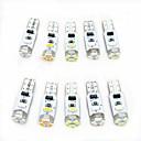 رخيصةأون أضواء السيارة الداخلية-10pcs T5 سيارة لمبات الضوء 0.5 W SMD 3014 80 lm 5 LED أضواء الداخلية من أجل عالمي كل السنوات