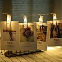 povoljno LED svjetla u traci-3M Žice sa svjetlima 20 LED diode Toplo bijelo Božićni vjenčani ukrasi AA baterije su pogonjene / Baterije su pogonjene 1pc