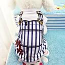 ieftine Imbracaminte & Accesorii Căței-Câini Γιλέκο Îmbrăcăminte Câini Albastru Roz Costume Bumbac Dungi Casul / Zilnic S M L XL