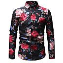 povoljno Muške košulje-Majica Muškarci Cvjetni print Slim Obala / Dugih rukava