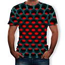 voordelige Heren T-shirts & tanktops-Heren Street chic / overdreven Print T-shirt Geometrisch / 3D Ronde hals Paars