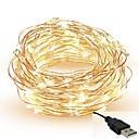 ieftine Fâșii Becurie LED-5m Fâșii de Iluminat 50 LED-uri SMD 0603 Alb Cald / Alb / Roșu Ce poate fi Tăiat / Petrecere / Decorativ 5 V / IP65