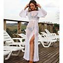رخيصةأون أقراط-أبيض حجم واحد لون سادة, ملابس السباحة تغطية الجسم أبيض أسود نسائي