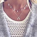 povoljno Naušnice-Žene Ogrlica Više slojeva Polumjesec dvostruka truba Vintage Europska Moda Krom Pink 45 cm Ogrlice Jewelry 1pc Za Dnevno Ulica