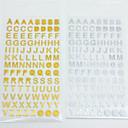 رخيصةأون أدوات الحمام-ذهبي / فضي 1 قطعة ملصقات وأشرطة 9.5*17.5 cm